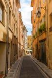 Aleia pitoresca em Aix-en-Provence, França Imagem de Stock