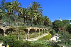 Aleias bonitas de Guell do parque, Espanha Fotografia de Stock Royalty Free