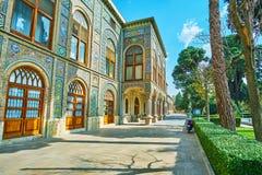 Aleias obscuros do palácio de Golestan, Tehran Fotos de Stock Royalty Free