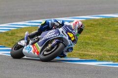Aleix Espargaro proef van MotoGP Stock Afbeelding