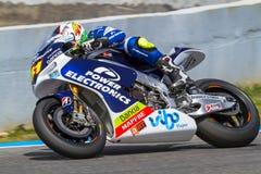 Aleix Espargaro proef van MotoGP Royalty-vrije Stock Afbeeldingen