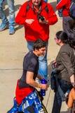 Aleix Espargaro proef van MotoGP Stock Foto's