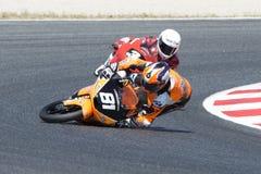 Aleix Viu and Andi Farid accident at FIM CEV Repsol International Championship Royalty Free Stock Photography