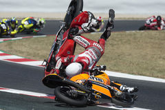 Aleix Viu and Andi Farid accident at FIM CEV Repsol Stock Photography