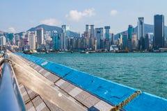 Aleja gwiazd i Hong Kong strona Zdjęcie Royalty Free