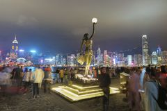 Aleja gwiazdy w Hong Kong zdjęcie royalty free
