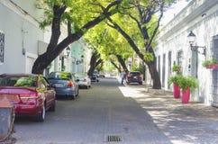 Aleja Macorix, typowy sąsiedztwo Kolonialna strefa Santo Domingo republika dominikańska zdjęcia royalty free