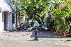 Aleja Macorix, typowy s?siedztwo Kolonialna strefa Santo Domingo republika dominika?ska obraz royalty free