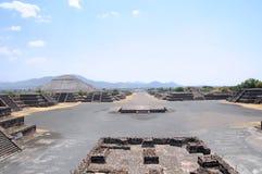 aleja nieżywy Mexico rujnuje teotihuacan Zdjęcie Stock