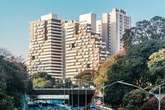 Aleja 23th Maj Avenida 23 De Maio w Sao Paulo, Brazylia Zdjęcie Stock