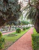 Aleja w Bahai ogródzie w Haifa zdjęcie royalty free