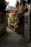 Aleja w Chińskim antycznym miasteczku Obraz Royalty Free
