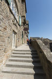 Aleja w Mont saint michel, Francja Obraz Stock