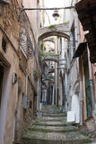 Aleja w Sanremo, Włochy fotografia stock