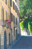 Aleja w włoskim historycznym centre Zdjęcia Royalty Free