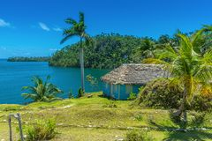 Alejandro de Humboldt park narodowy blisko Baracoa, Kuba zdjęcie royalty free