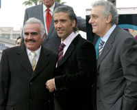 Alejandro Fernandez, Placido Domingo, Vincente Fernandez Royalty Free Stock Images