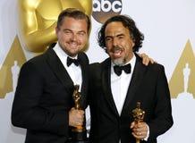 Alejandro G Inarritu e Leonardo DiCaprio immagine stock libera da diritti