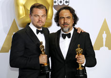 Alejandro Gonzalez Inarritu and Leonardo DiCaprio Royalty Free Stock Images