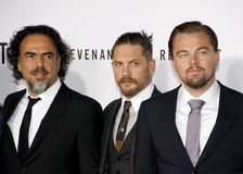 Alejandro Gonzalez Inarritu, Leonardo DiCaprio and Tom Hardy Stock Photos