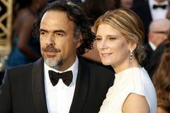 Alejandro Gonzalez Inarritu und Maria Eladia Hagerman Lizenzfreies Stockbild