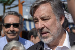 Alejandro Guillier kandyday na prezydenta w Chile Zdjęcie Stock