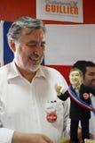 Alejandro Guillier kandyday na prezydenta w Chile Fotografia Royalty Free