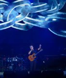 Alejandro Sanz during his concert tour 'Sirope' Royalty Free Stock Photo