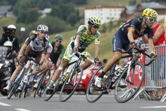 Alejandro Valverde , Alberto Contador and Romain Bardet Tour de France 2015 Royalty Free Stock Photography