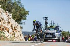 Alejandro Valverde, experimentação individual do tempo - Tour de France 2016 Fotografia de Stock