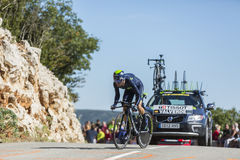 Alejandro Valverde, Individual Time Trial - Tour de France 2016 Stock Photography