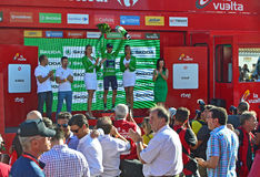 Alejandro Valverde Movistar Team On The Podium Royalty Free Stock Photo