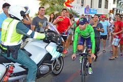 Alejandro Valverde Team Movistar Foto de archivo