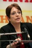 Aleka Papariga op openbare toespraak Royalty-vrije Stock Afbeelding