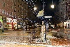 Aleko Konstantinov  statue on the street in Sofia Stock Photography