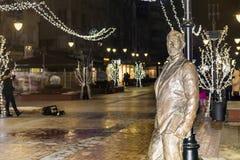 Aleko Konstantinov  statue on the street in Sofia Royalty Free Stock Image