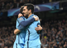Ilkay Gundogan. Football players pictured during UEFA Champions League Group C game between Manchester City and FC Barcelona on November 1, 2016 at Etihad Stock Photography