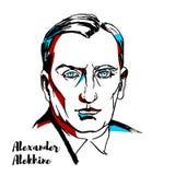 Aleksander Alekhine portret royalty ilustracja