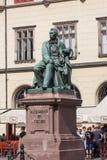 Aleksander Fredro monument i Wroclaw Arkivfoton