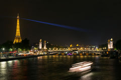 Aleksander III most w Paryż Obrazy Stock