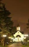 Aleksander Kościół noc widok Nevsky Obrazy Royalty Free