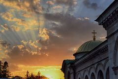 Aleksander Nevsky Cathedral no por do sol Fotos de Stock Royalty Free