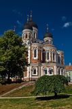 Aleksander Nevsky Cathedral in Tallin. A view of the Alksander Nevsky Cathedral in Tallin, Estonia Stock Photos