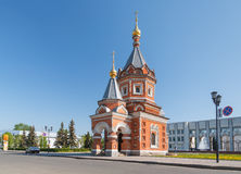 Aleksander Nevsky kaplica w Yaroslavl obrazy stock