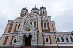 Aleksander Nevsky katedra, ortodoksyjna katedra w Tallinn Starym miasteczku, Estonia Fotografia Stock