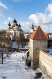 Aleksander Nevsky katedra w Tallinn Estonia obrazy royalty free