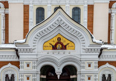 Aleksander Nevsky Ortodoksalna katedra w Tallinn Starym miasteczku, Est Zdjęcie Royalty Free
