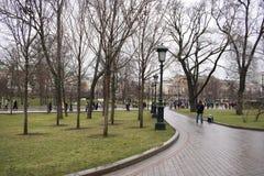 Aleksander ogród blisko ścian Moskwa Kremlin Fotografia Stock