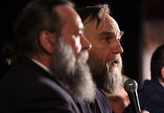 Aleksandr Dugin, analista político do russo - conferência de imprensa dentro foto de stock royalty free