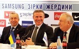 Aleksandr Lukianchenko, Sergey Bubka, Valery Borz Stock Images